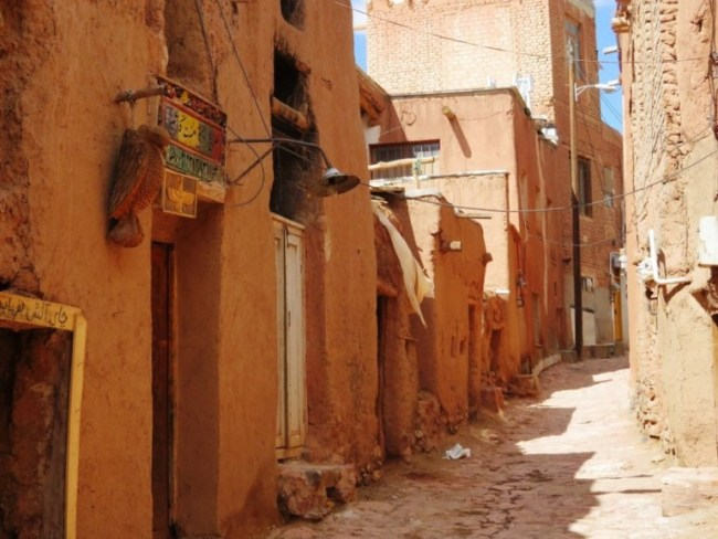 Red mudbrick houses in Abyaneh.