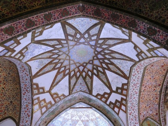 Ceiling at Fin garden in Kashan Iran