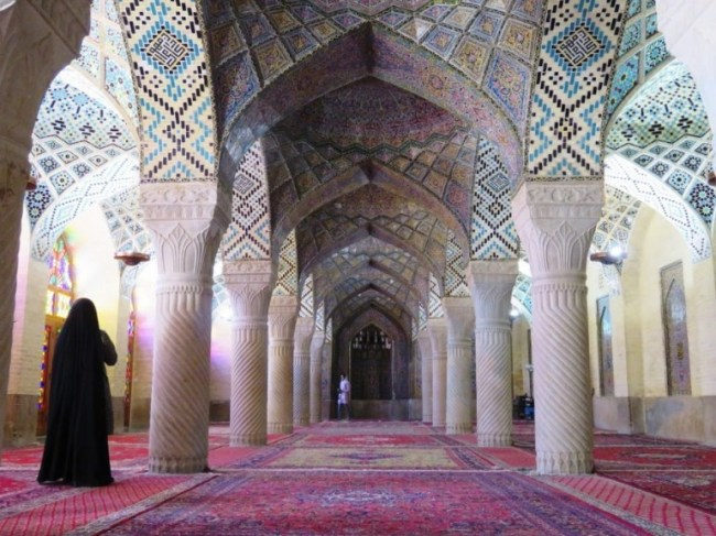 Nasir al Molk mosque in Shiraz