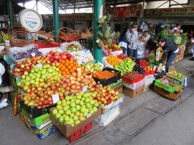 Fruits at the bazaar in Shymkent, one of the top things to do in Shymkent