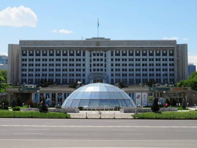 Republic square in Almaty