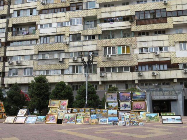 Art at Arbat street in Almaty