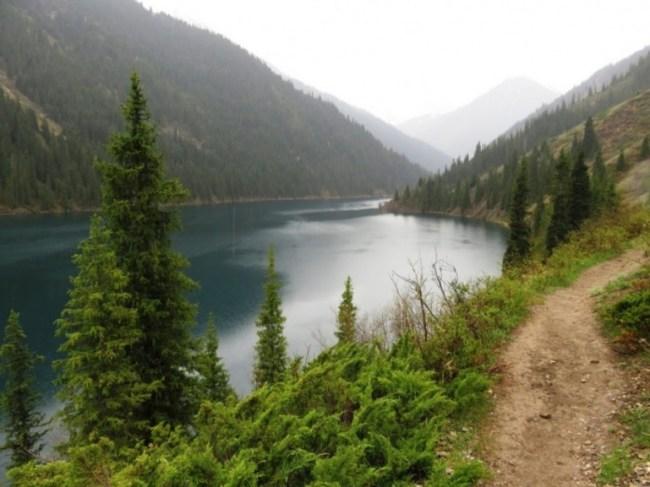 Kolsai lakes in Kazakhstan