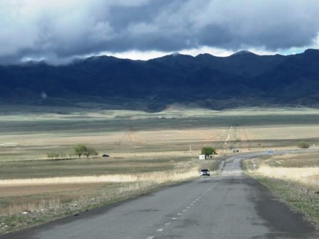 Road to Kolsai Lakes in Kazakhstan