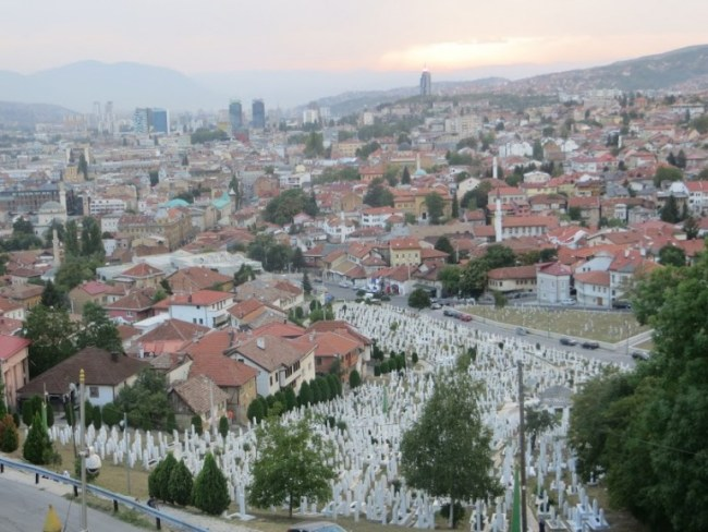 Walking in the hills to see the views over the city are among the best things to do in Sarajevo Bosnia