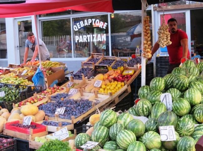 Market in Pristina Kosovo