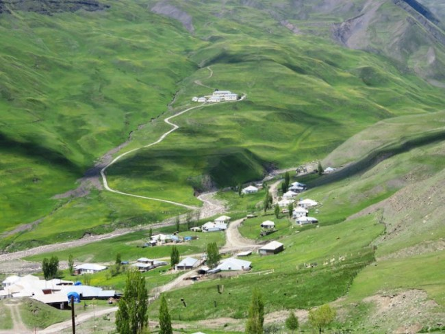 View on Xinaliq, Khinaliq, Khinalug