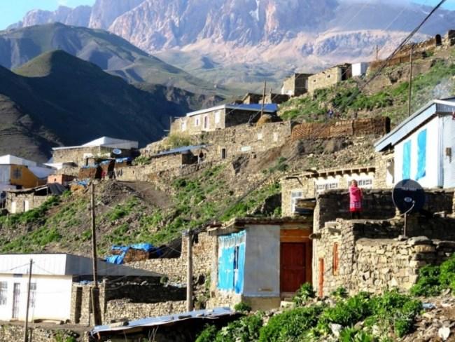 Homes in Xinaliq, Khinaliq, Khinalug