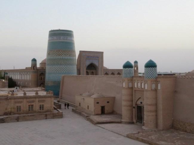 Khiva skyline in Karakalpakstan