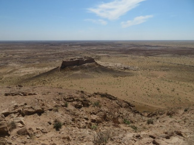 Karakalpakstan desert is one of the most remote places you can go to when backpacking Uzbekistan