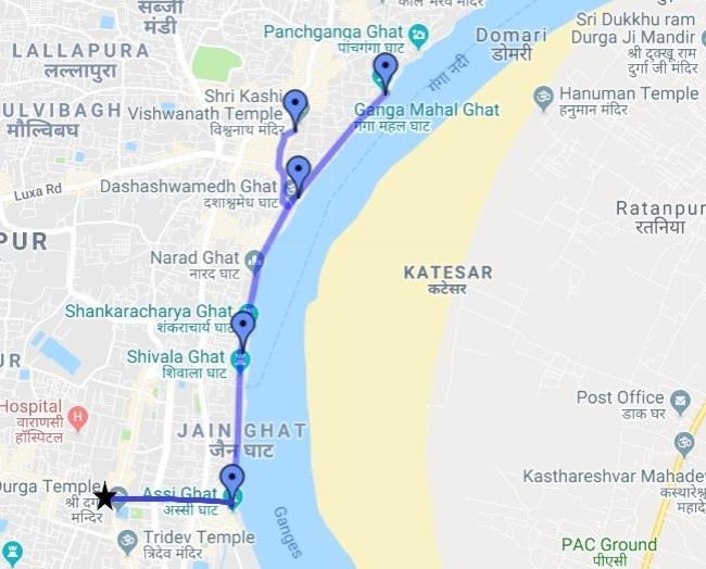 A self guided Varanasi Walking tour