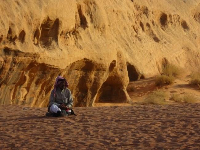 A bedouin guide in Wadi Rum Jordan