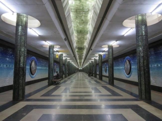 Kosmonavtlar is one of the Tashkent metro stations dedicated to the Soviet astronauts