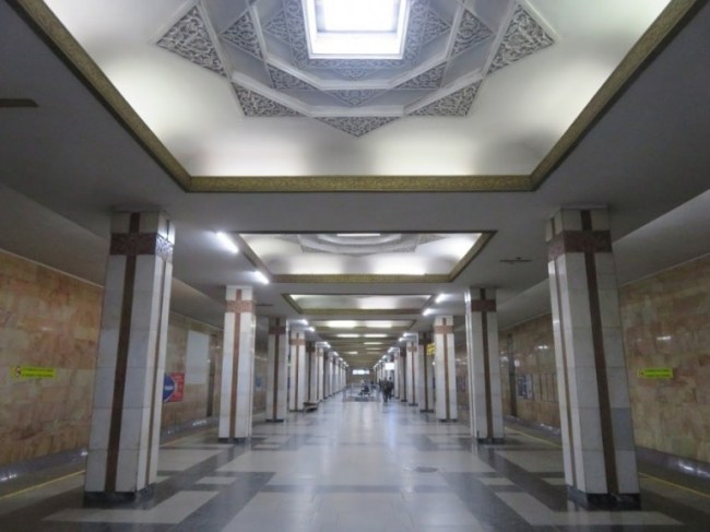 Amir Timur Hiyoboni metro station in Tashkent Uzbekistan