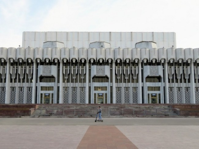 Soviet architecture in Tashkent. The capital of Uzbekistan