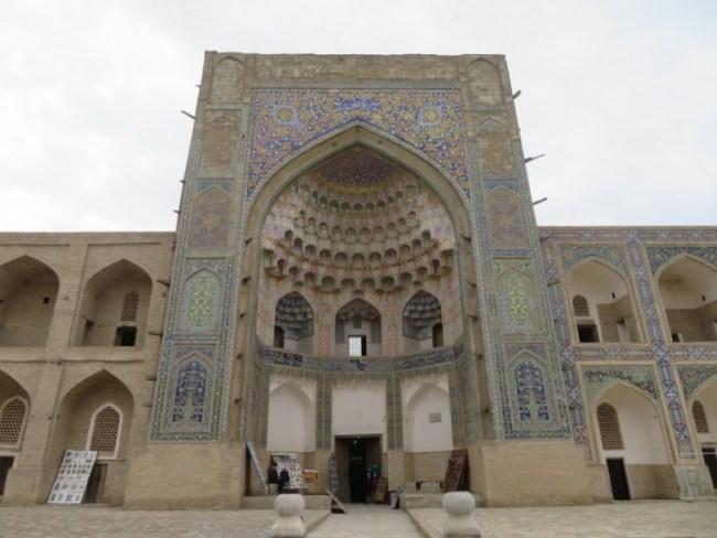 Ulugbek madrassah in Bukhara Uzbekistan