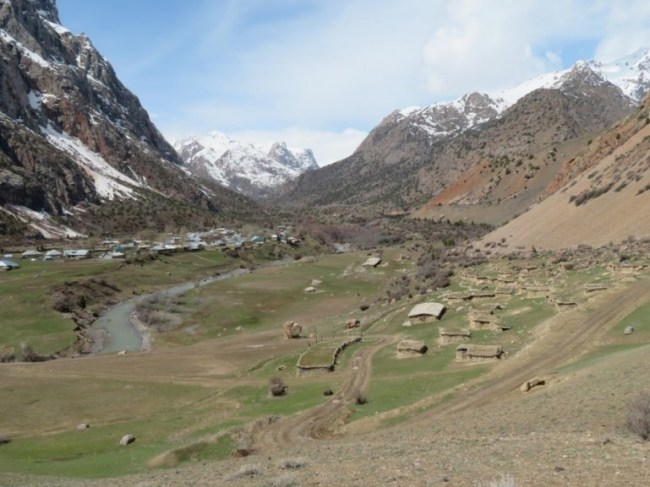 Sarytag Village near Iskanderkul lake Tajikistan