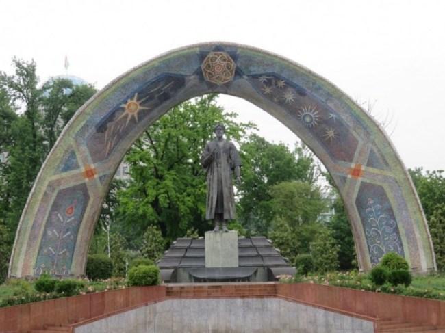 Rudaki park in Dushanbe Tajikistan