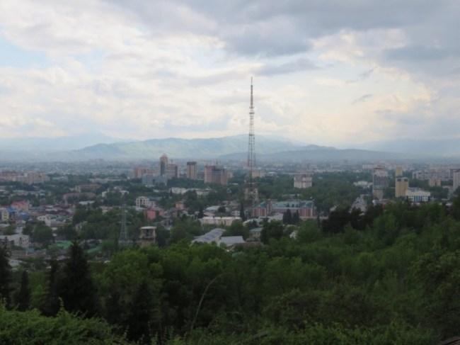Victory Park view in Dushanbe Tajikistan
