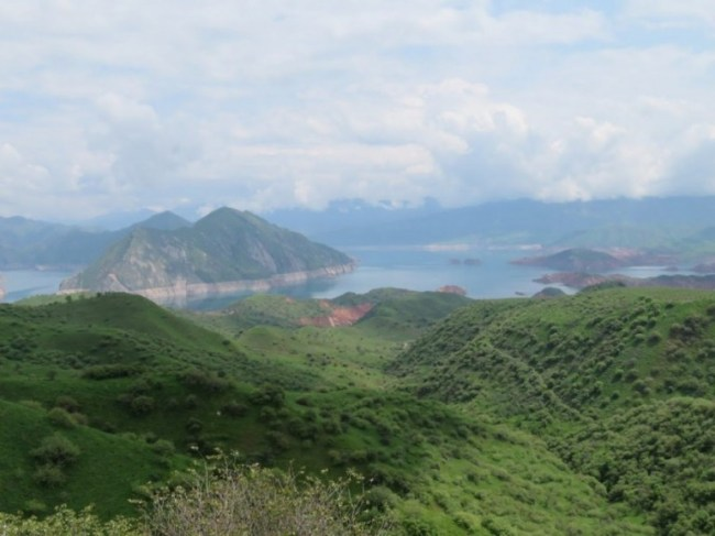 Nurek reservoir near Dushanbe Tajikistan