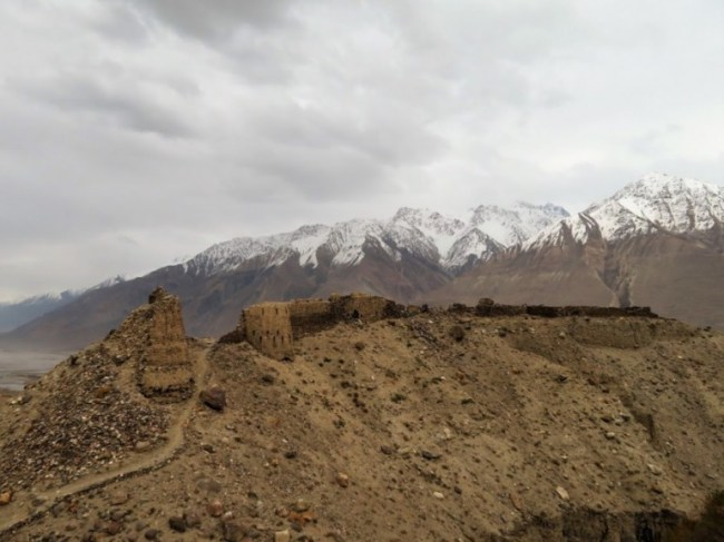 Yamchun fort on the Pamir highway Tajikistan