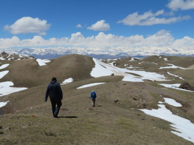 Trekking in the Alay mountains in Kyrgyzstan