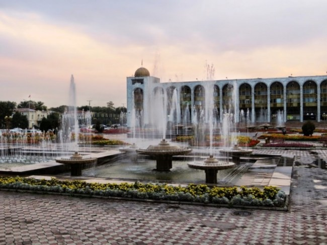 Ala Too square in Bishkek Kyrgyzstan
