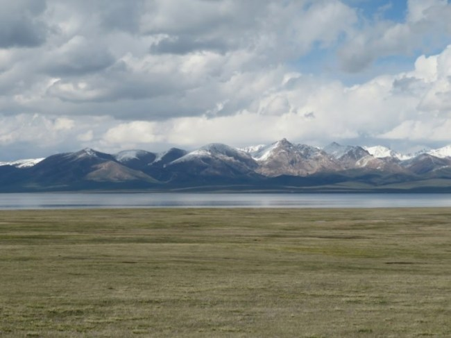 Views on Song kul lake in Kyrgyzstan