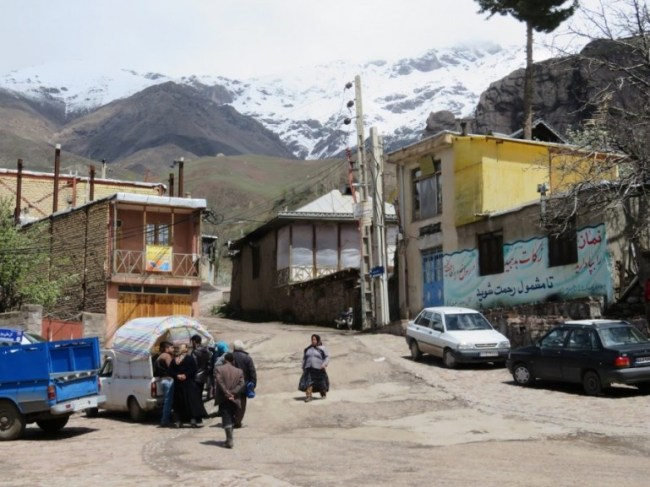 The main square of Gazor Khan village in the Alamut Valley