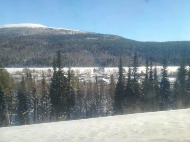 Village along the St Petersburg to Murmansk train