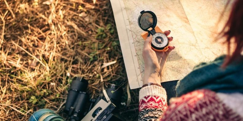 learn to use a compass