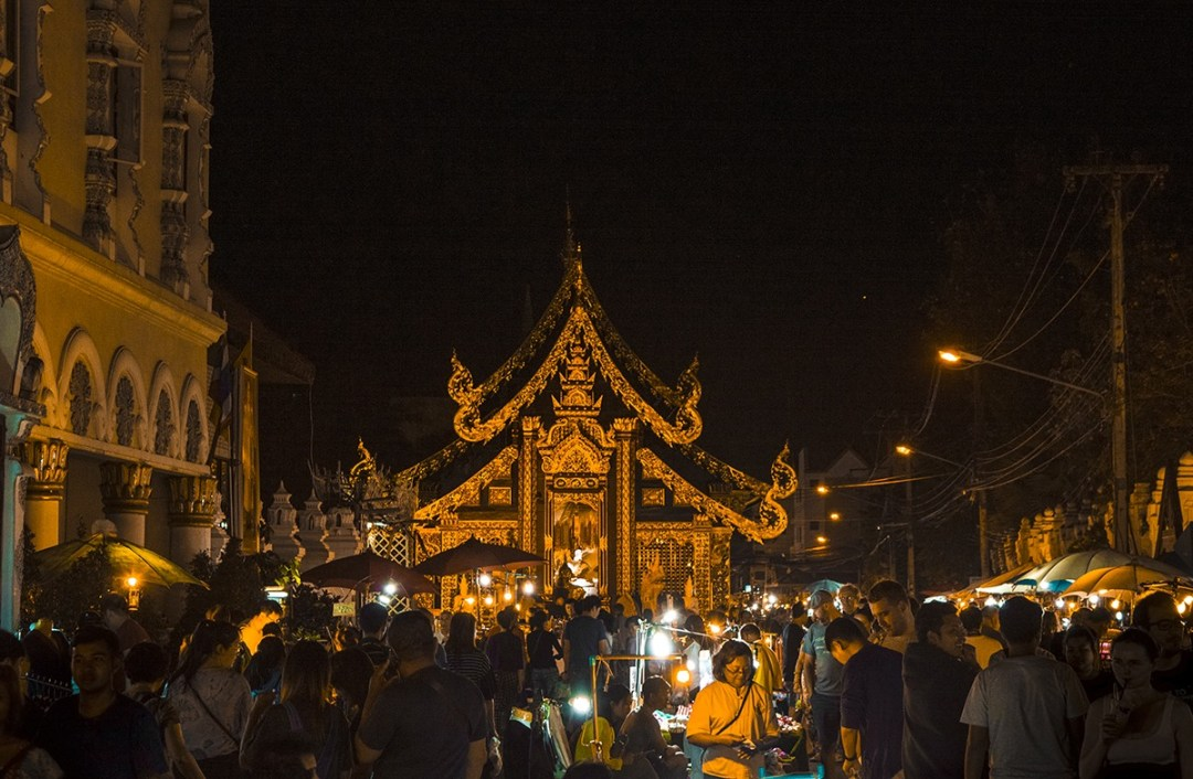 Chiang mai night market temple