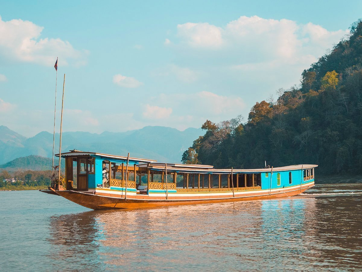 Laotian Mekong Wooden Boats: Slow Boats and Plank Canoes