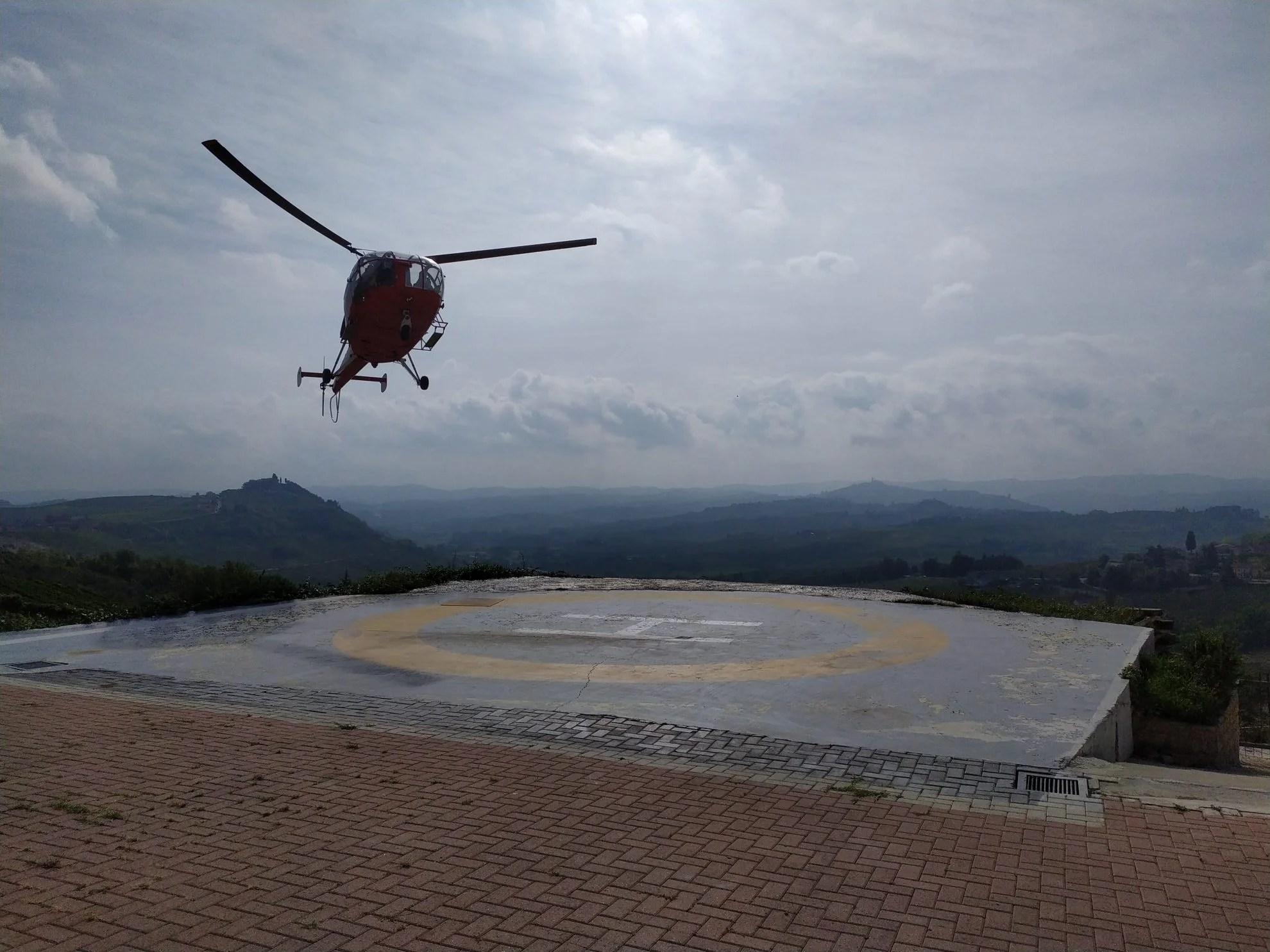 Helikoptervlucht over Piemonte Italië