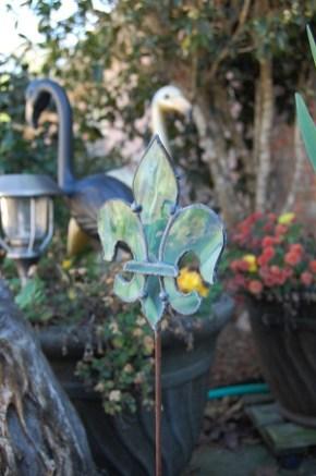 Fleur de lis stained glass ornament