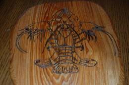 Fleur de lis Shrimp and Crawfish (Artist: B. Sanchez)