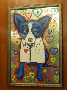 This is a photograph of George Rodrigue's painting. Artist George Rodrigue.