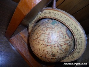 A globe in latin