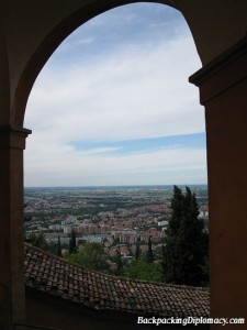 A window in time. Overlooking Bologna in the foothills of Tuscany.