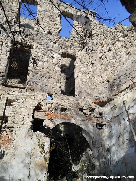 Destroyed building in Mostar