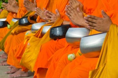 """Thai Monks"", image courtesy of hinnamsaisuy on Freedigitalphotos.net"