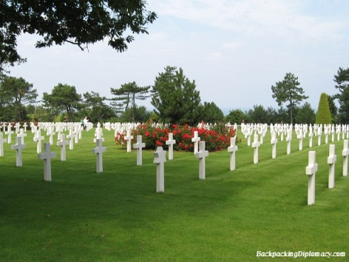 American cemetery in Normandy France. Cemetery Normandie France