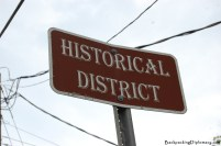 Historical district sign