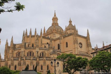 A view of the Segovia Cathedral