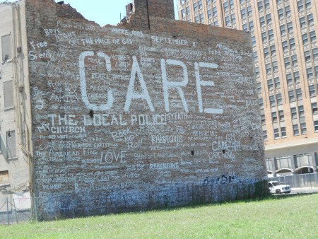 Care wall in Detroit