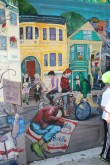 A gentrified community in painting