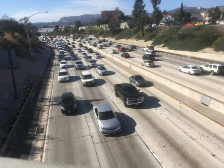Typical traffic in Los Angeles, makes you think if you need to have a car in LA