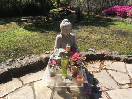 Buddha in the swamp of Avery island