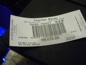 Macau Casino ticket - one of the best places to gamble in the world!
