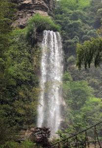 A waterfall in Hunan Province.